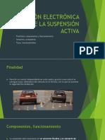 Gestión Electrónica de La Suspensión Activa
