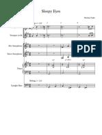 SleepyEyesSally - Full Score