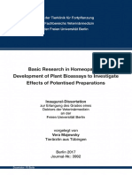 Basic Research on Homeopathy - Development of Plant Bioassays to Investigate Effects