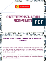 Share Free Events Online With Redstart Events