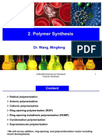 CHE4250-2018-19-S1 CHP2 Polymer Synthesis Notes