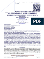INSTITUTION FACTORS AFFECTING ADHERENCE TO NATIONAL PRESSURE ULCER PREVENTION GUIDELINES AMONG NURSES IN EMBU KENYA
