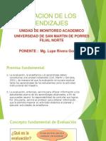 EVALUACION DE LOS APRENDIZAJES PPT.