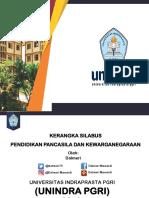 Kerangka Silabus Ppkn Unindra Semester Gasal 2018-2019