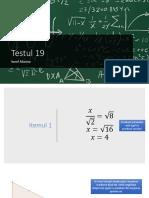Test matematica Proiect ppt powerpoint