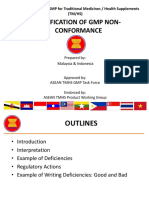 ASEAN TMHS GMP Training Classification of GMP Non Conformance