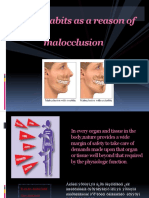 Oral Habits as a Reason of Malocclusion New
