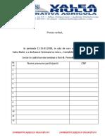 Proces Verbal Seminarii