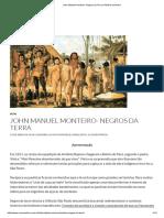 Resumo John Manuel Monteiro- Negros Da Terra _ História Do Brasil