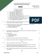 Mechanical Measurement Metrology S16