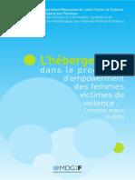 L'hébergement dans le processus d'empowerment des femmes victimes de violence
