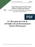 La Perception Du Code de La Famille Et de Son Environnement Social Et Professionnel FR