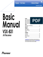 VSX-831 Advanced Manual En