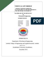 Vertical Lift Bridge - Project Report