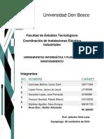 Herramientas Informática y Planes de Mantenimiento para Inastalaciones Electricas