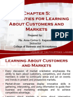 137883527 Chapter 5 Capabilities for Learning About Customers and Markets