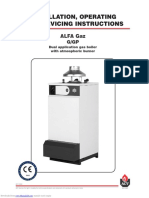MANUAL - ALFA Boiler for Central Heating System
