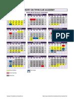 Academic Calendar 1819