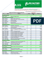 Listado de precios venta de bodega PC Factory