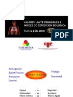 VALORES LIMITE PERMISIBLES E Indices de Expo Sic Ion Biologica