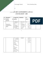 Lucrare 1 - Planificarea Calendaristica