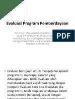 Evaluasi Program Pemberdayaan