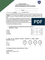 Prueba Coeficiente 2 Matemáticas 3° básico
