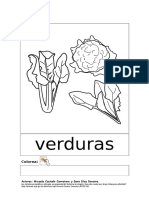 VERDURAS - Colorea y Repasa Palabra (1)