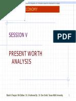 Session v Present Worth Analysis