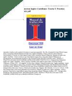 Manual de Traduccion Ingles Castellano Teoria Y Practica