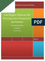 Las Reglas Clasicas Del Presupuesto y Su Expresion Contable