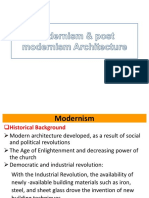 Modernism & Post Modernism Architecture