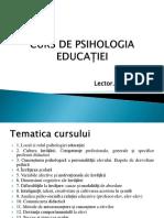 Psihologia Educatiei Cursul 1