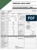 Personal Data Sheet New