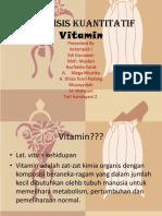 Analisis Kuantitatif Vitamin