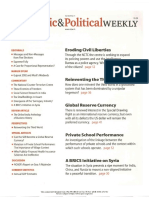 Economic and Political Weekly Vol. 47, No. 11, MARCH 17, 2012