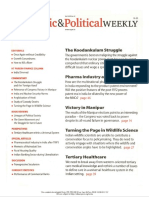 Economic and Political Weekly Vol. 47, No. 12, MARCH 24, 2012