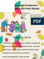 Posyandu Lansia,Puskesmas Santun Lansia Dan Panti Werda