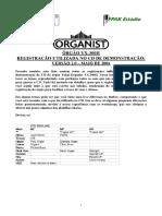 Registração Orgnist 300