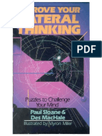 Improve Your Lateral Thinking - Paul Sloane