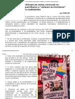 As FARC-EP Que Continuam Em Armas Convocam Ex-comandantes e Ex-guerrilheiros a _voltarem Às Trincheiras