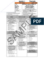 November 6 2018 General Election Sample Ballots