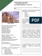 Avaliação de Lingua Portuguesa - 4 Bimestre -2 Colunas