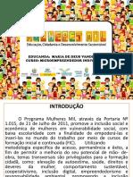 Modelo Portifólio Mulheres Mil Microempreendedor