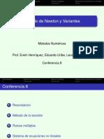 Conf 8 Variantes Método de Newton 2s 2018