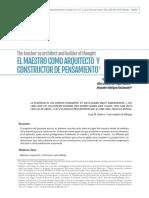 El Maestro como Arquitecto constructor de pensamiento