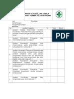 Daftar Tilik 8.7.2.2penilaian Kinerja Petugas Pemberi Pelayanan Klinis