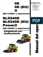 4640E Power2 (SN 312901 and Up) 5240E Power2 (SN 432501 and Up) Skid Loaders Operators Manual, 50950048 (Spanish)