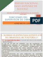 Funciones de Supervisor