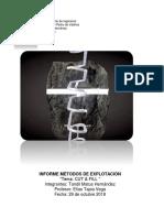 Informe Mineria Subterranea